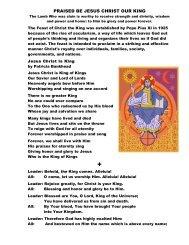 Prayer to Christ the King