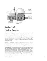 Section 14.3 Nuclear Reactors - How Things Work