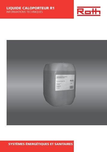 Fluide Caloporteur pour capteurs R1 - Roth France