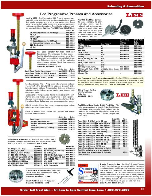 Lee Progressive Presses and Accessories - Midsouth Shooters