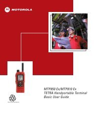 Userguide Motorola MTP850 ATEX TETRA - English
