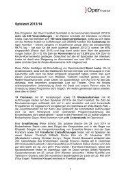 DIE SPIELZEIT 2013/14 - Oper Frankfurt