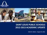 Academic Update - St. Louis Public Schools