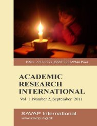 Vol. 1(2) SEP 2011 - SAVAP International