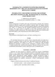 Informační a expertní systém pro podporu rozhodování v ... - SVT