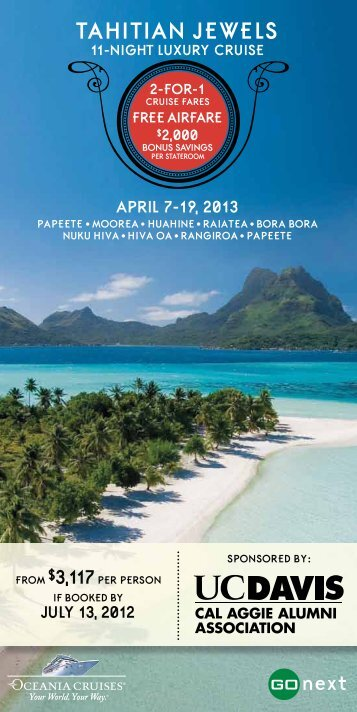 Tahitian Jewels Brochure - Cal Aggie Alumni Association