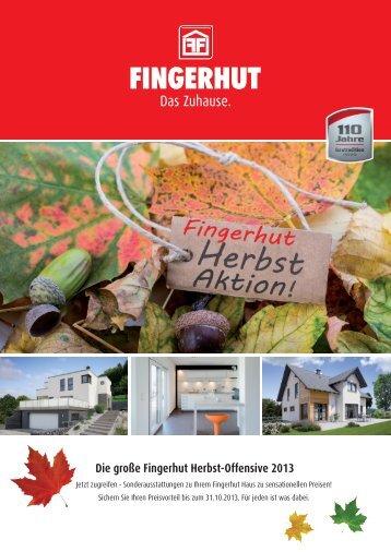 Die große Fingerhut Herbst-Offensive 2013 - Fingerhut Haus GmbH ...