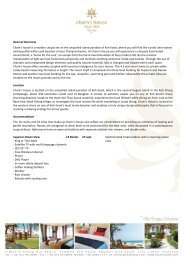 Cham's House Resort Fact Sheet - The Unique Collection of Hotels ...