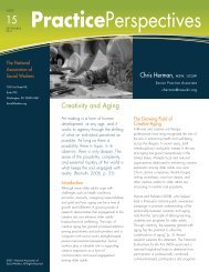 Creativity and Aging - National Association of Social Workers