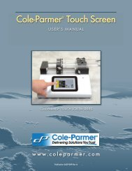 Instruction Manual - Cole-Parmer