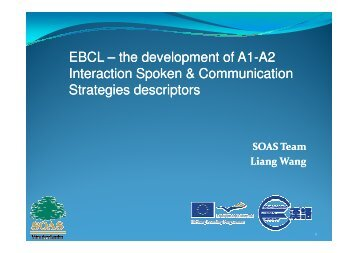 EBCL Presentation of A1-A2 Interaction Spoken + Communication ...