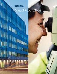 Annual Report 2008 - Skanska