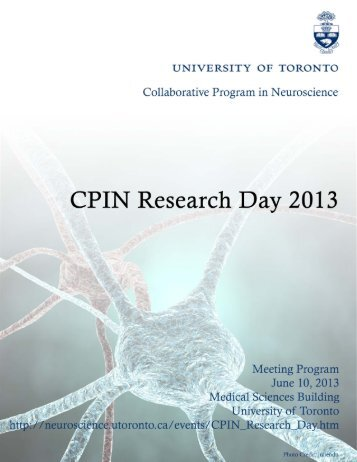 2013 CPIN Reserch Day Program Booklet - Program in ...