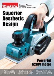 Superior Aesthetic Design - Makita
