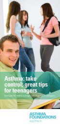 Asthma: take control; great tips for teenagers