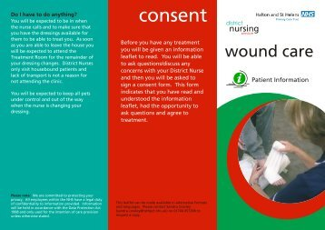 Wound Care.cdr - Halton and St Helens PCT