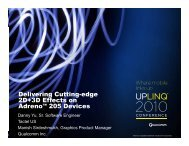 Delivering Cutting-edge 2D+3D Effects on 2D+3D Effects ... - Uplinq