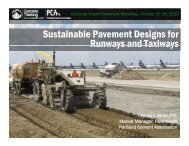 Sustainable Pavement Designs for Runways and Taxiways