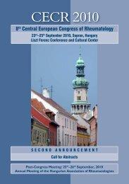 CECR 2010 - Magyar Reumatológusok Egyesülete