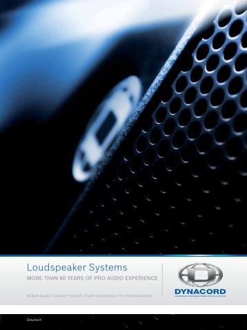 Loudspeaker Systems - Udo Erpenstein GmbH