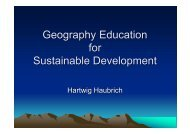 Geography Education for Sustainable Development - HERODOT ...