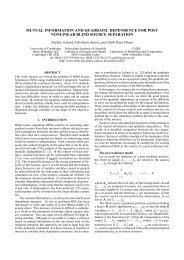 mutual information and quadratic dependence for post ... - Eurasip
