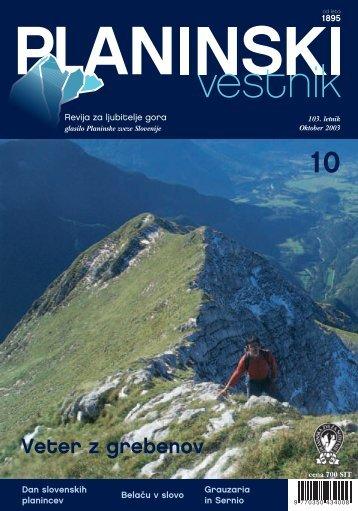 Celotna Å¡tevilka - Planinski Vestnik