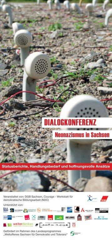 Flyer zur Dialogkonferenz - Netzwerk für Demokratie und Courage