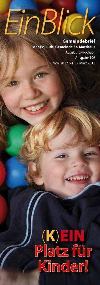 (K)EIN Platz für Kinder! - Evangelisch-Lutherische Gemeinde St ...