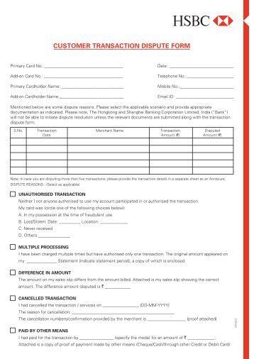 anz visa credit card dispute form