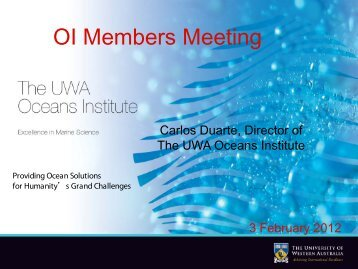 OI Monthly Briefing 3 February 2012 - Information Services