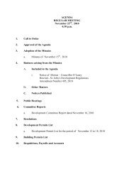 Council Agenda Monday, November 22, 2010 - City of St. John's