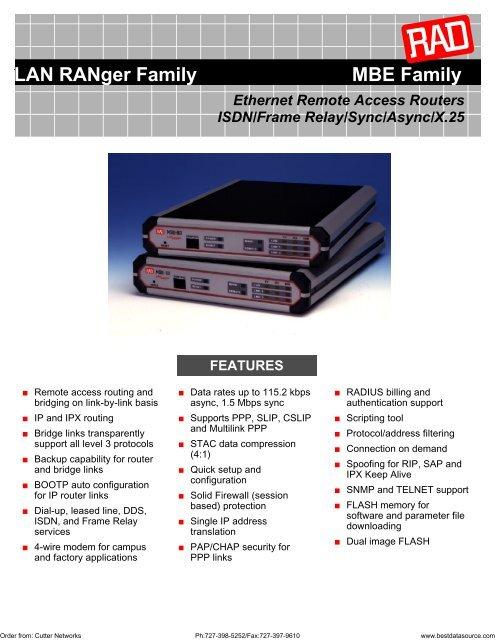 LAN RANger Family MBE Family Ethernet Remote     - Cutter