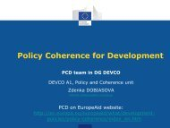 Policy Coherence for Development - Trialog