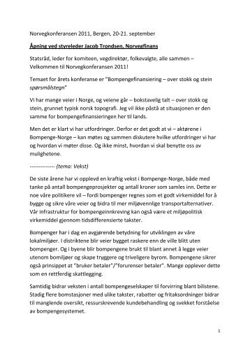 Norvegkonferansen 2011, Bergen, 20-21. september ... - Norvegfinans