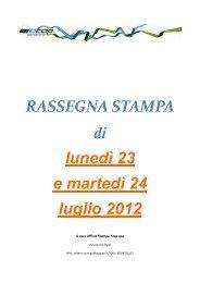 Rassegna stampa dal 23 al 24 luglio 2012 - Atap