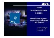 (AVL List, Graz) am 31. Mai 2010 zum Thema - Institut für Elektronik ...