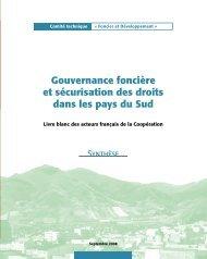 Gouvernance foncière et sécurisation des droits dans les ... - Gisa