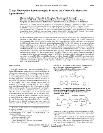 X-ray Absorption Spectroscopic Studies on Nickel ... - ResearchGate