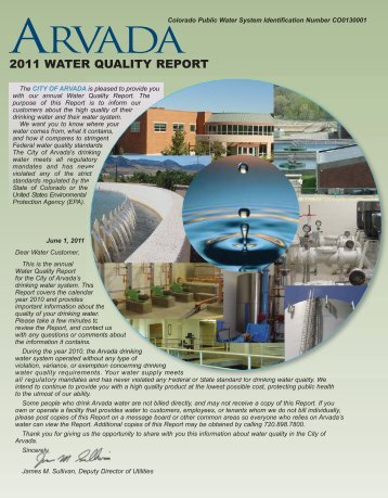 Water Quality Report 2011 7:Layout 1.qxd - Arvada