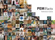 Download PEM's Fast Facts Booklet - Peabody Essex Museum