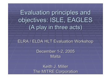 View the presentation - ELRA