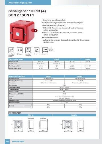 Schallgeber 100 dB (A) SON 2 / SON F1 - IKS-Sottrum