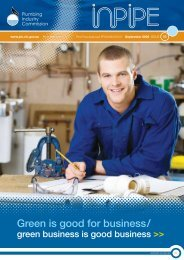 InPipe - September 2008 - Plumbing Industry Commission
