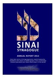Anna Dyson - Sinai Latest News - Sinai Synagogue