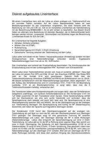 Hardwarebeschreibung Lallus Teil 5 (PDF-Datei ... - Wolfgang Back