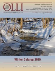 Winter Catalog 2010 - BerkshireOLLI.org