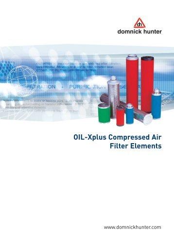 OIL-Xplus Compressed Air Filter Elements