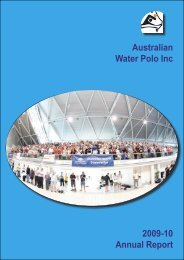 2009-10 Annual Report - Australian Water Polo Inc