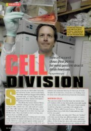 Stem cell research shows great promise, but moral questions abou ...